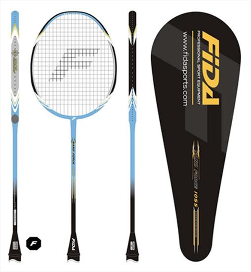 Vrhunski tekmovalni badminton lopar FIDA iz nano karbona, ki tehta le 87 g.